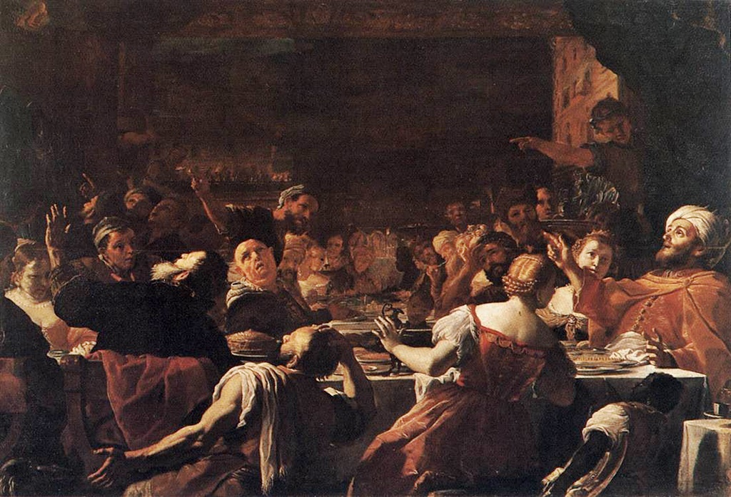 Mattia Preti - Baldassarre\'s Feast - WGA18380