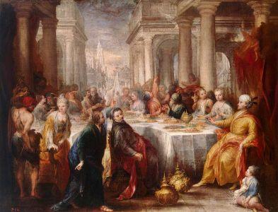 Andrea Celesti Festín De Baltasar 1705 Hermitage