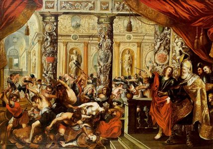 Kessler Daniel Und König Cyrus Im Tempel