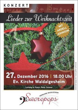 Plakat Weinachtskonzert