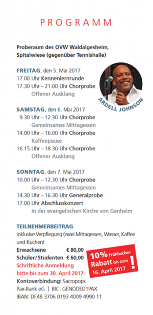 Workshop 2017 Programm